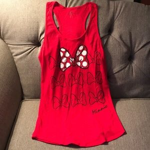 Official Disney Parks Minnie Mouse Bow tank top